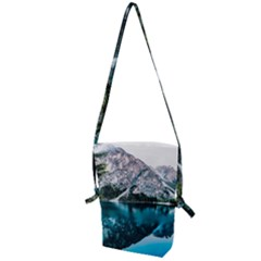 Daylight Forest Glossy Lake Folding Shoulder Bag by Samandel