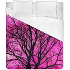 Pink Silhouette Tree Duvet Cover (california King Size) by Samandel