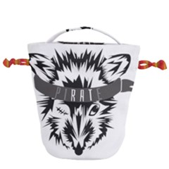 Pirate Rat Animal Pet Danger Drawstring Bucket Bag