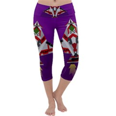 Toy Plane Outer Space Launching Capri Yoga Leggings
