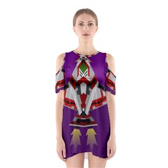 Toy Plane Outer Space Launching Shoulder Cutout One Piece Dress by Samandel