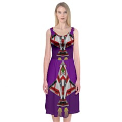 Toy Plane Outer Space Launching Midi Sleeveless Dress by Samandel