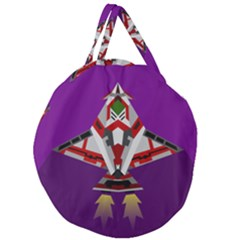 Toy Plane Outer Space Launching Giant Round Zipper Tote