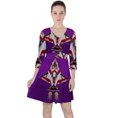 Toy Plane Outer Space Launching Ruffle Dress