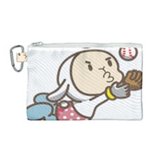Music Fruit Baseball Ball Canvas Cosmetic Bag (medium)