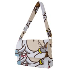 Music Fruit Baseball Ball Full Print Messenger Bag