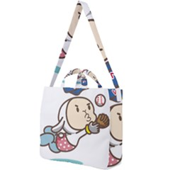 Music Fruit Baseball Ball Square Shoulder Tote Bag