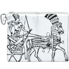 Line Art Drawing Ancient Chariot Canvas Cosmetic Bag (xxxl)