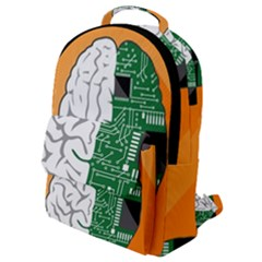 Technology Brain Digital Creative Flap Pocket Backpack (small)