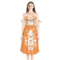 Taiwan Changhua Wikiproject Shoulder Tie Bardot Midi Dress