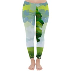 Landscape Nature Natural Sky Classic Winter Leggings