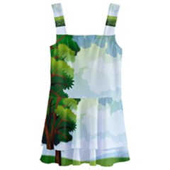 Landscape Nature Natural Sky Kids  Layered Skirt Swimsuit