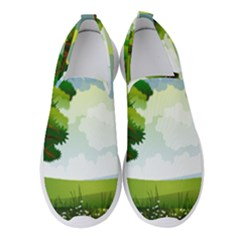 Landscape Nature Natural Sky Women s Slip On Sneakers