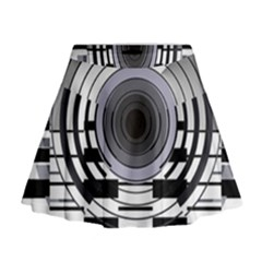 Glass Illustration Technology Mini Flare Skirt
