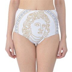 Apollo Design Draw Vector Nib Classic High Waist Bikini Bottoms