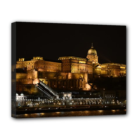 Budapest Buda Castle Building Scape Deluxe Canvas 20  X 16  (stretched) by Samandel