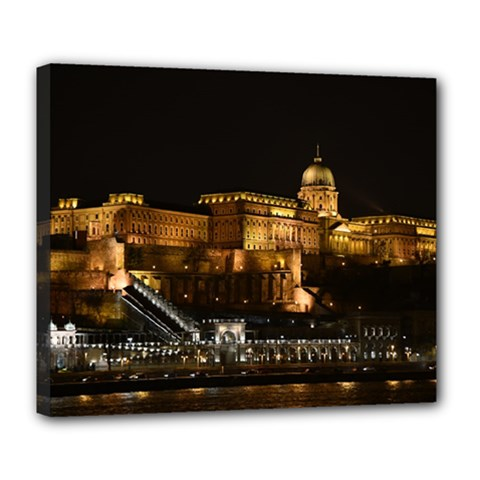 Budapest Buda Castle Building Scape Deluxe Canvas 24  X 20  (stretched) by Samandel