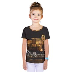 Budapest Buda Castle Building Scape Kids  One Piece Tee