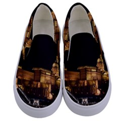 Budapest Buda Castle Building Scape Kids  Canvas Slip Ons
