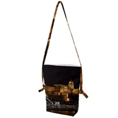 Budapest Buda Castle Building Scape Folding Shoulder Bag by Samandel