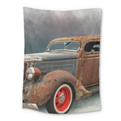Auto Old Car Automotive Retro Medium Tapestry