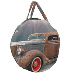 Auto Old Car Automotive Retro Giant Round Zipper Tote
