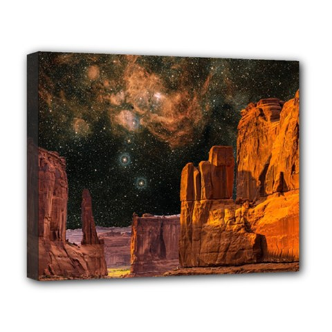Geology Sand Stone Canyon Deluxe Canvas 20  X 16  (stretched)