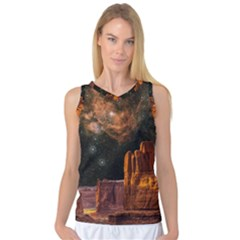 Geology Sand Stone Canyon Women s Basketball Tank Top