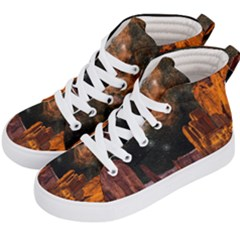 Geology Sand Stone Canyon Kid s Hi Top Skate Sneakers by Samandel