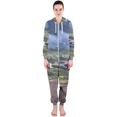 Rock Scenery The H Mong People Home Hooded Jumpsuit (ladies)
