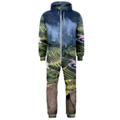 Rock Scenery The H Mong People Home Hooded Jumpsuit (men)  by Samandel