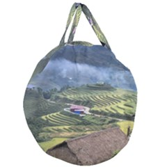 Rock Scenery The H Mong People Home Giant Round Zipper Tote