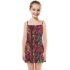Autumn Colorful Nature Trees Kids Summer Sun Dress