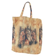 Head Horse Animal Vintage Giant Grocery Tote