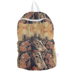Head Horse Animal Vintage Foldable Lightweight Backpack