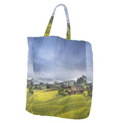 Vietnam Terraces Rice Silk Giant Grocery Tote