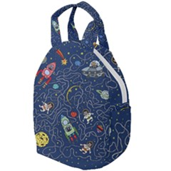Cat Cosmos Cosmonaut Rocket Travel Backpacks
