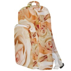 Roses Plate Romantic Blossom Bloom Double Compartment Backpack