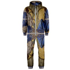 Mosaic Painting Glass Decoration Hooded Jumpsuit (men)