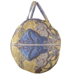 Mosaic Painting Glass Decoration Giant Round Zipper Tote