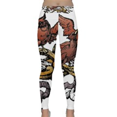 Transparent Background Bird Classic Yoga Leggings
