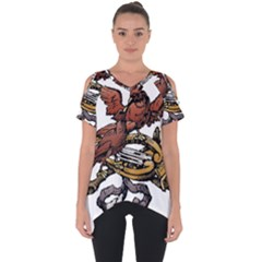 Transparent Background Bird Cut Out Side Drop Tee