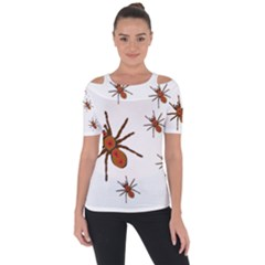 Nature Insect Natural Wildlife Shoulder Cut Out Short Sleeve Top