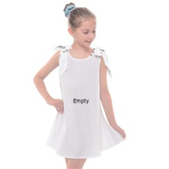 Gray And Black Goddess Temple Kids  Tie Up Tunic Dress