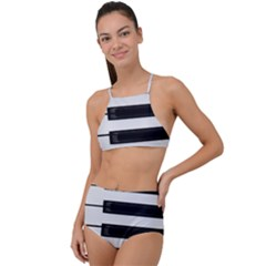 Keybord Piano High Waist Tankini Set