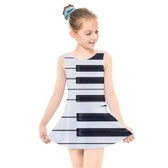 Keybord Piano Kids  Skater Dress Swimsuit
