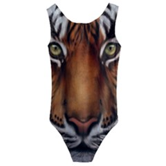 The Tiger Face Kids  Cut Out Back One Piece Swimsuit
