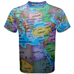 Globe World Map Maps Europe Men s Cotton Tee