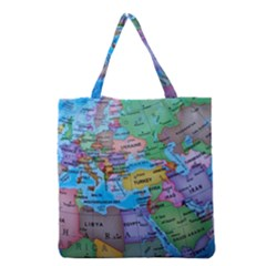 Globe World Map Maps Europe Grocery Tote Bag by Samandel
