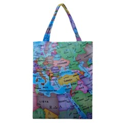 Globe World Map Maps Europe Classic Tote Bag